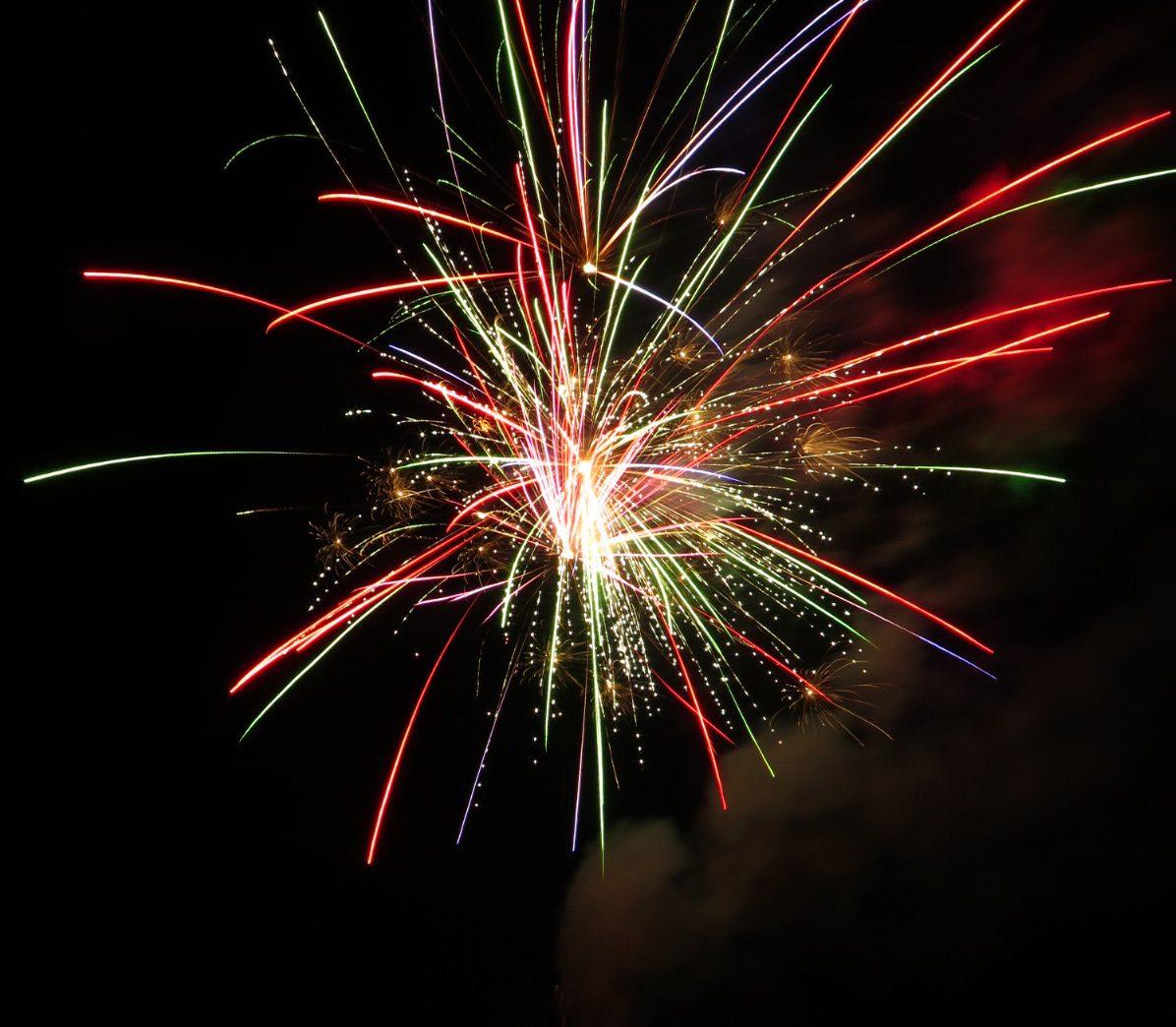 fireworks over lake in orlando florida