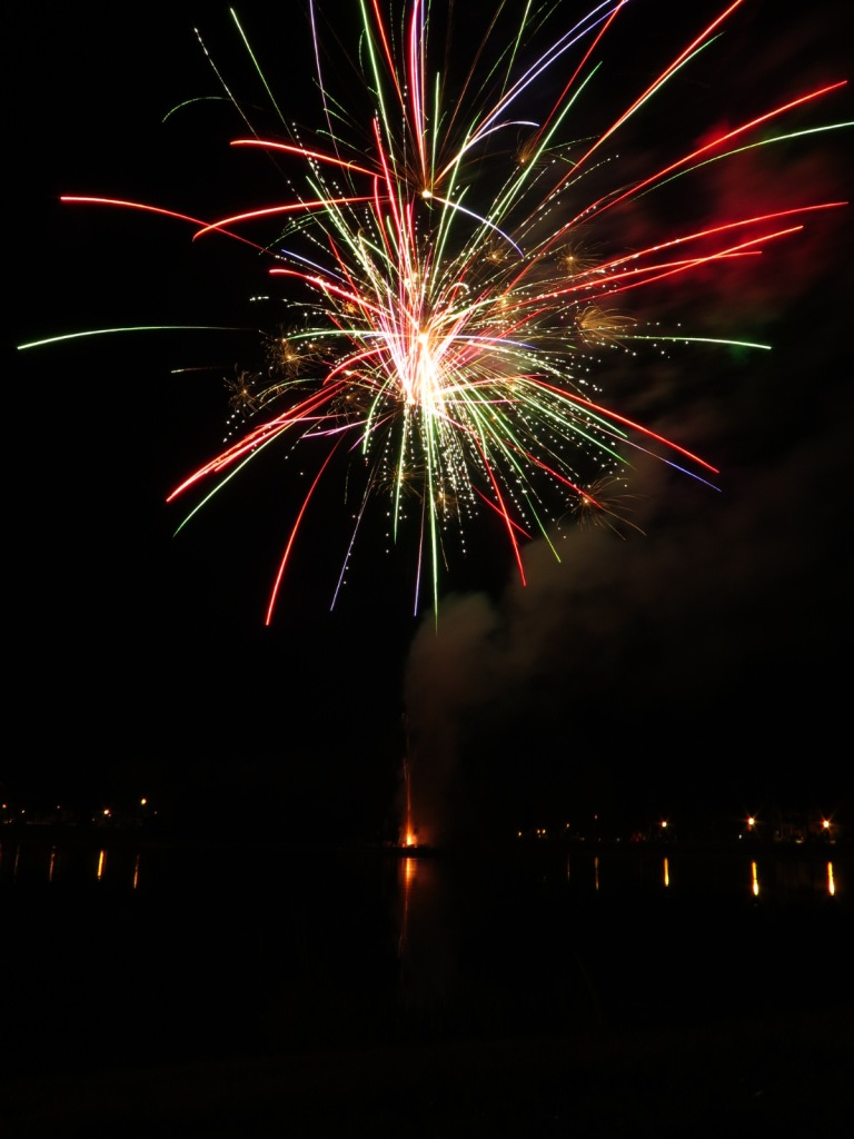 fireworks over lake in orlando florida