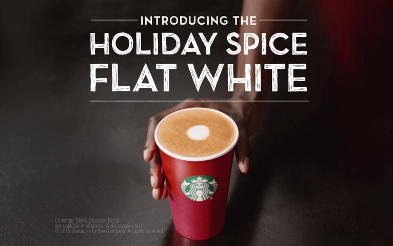 starbucks holiday flat white