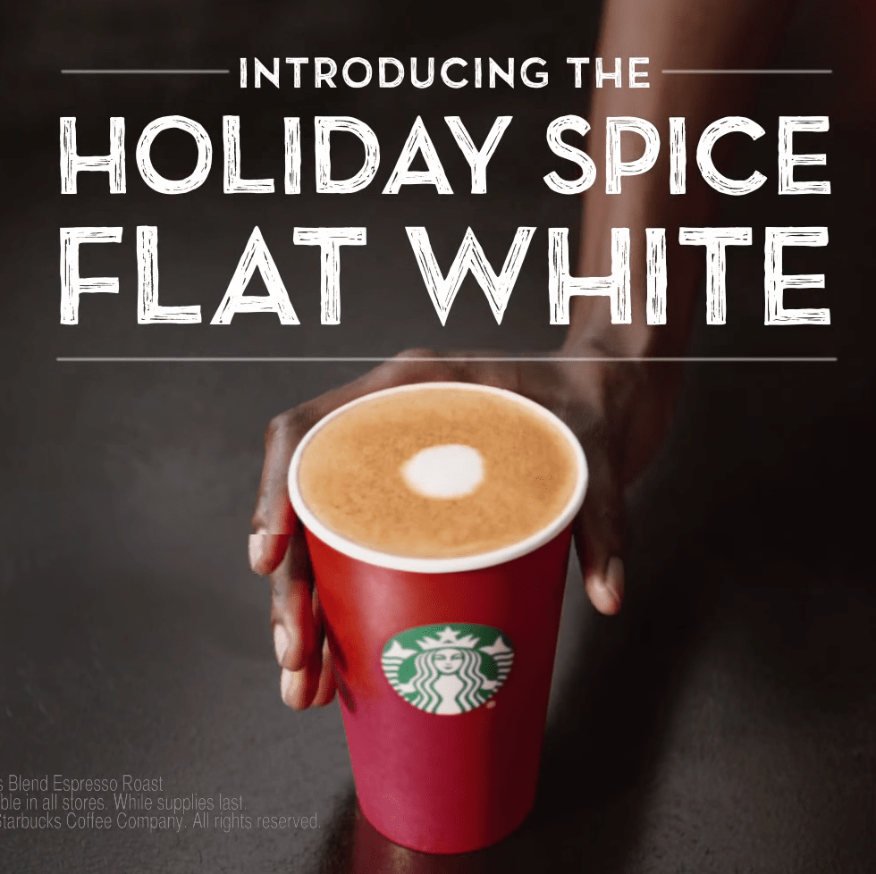 starbucks holiday flat white