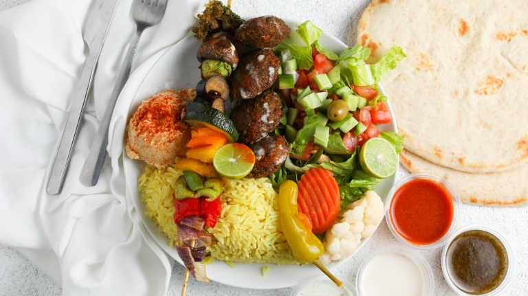 Falafel Rainbow Plate